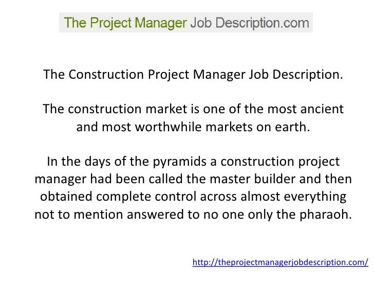 A Project Manager Job Description YouLl Be Able To Understand