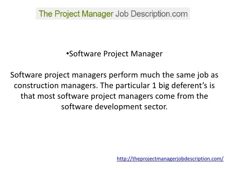 A Project Manager Job Description You Ll Be Able To Understand. Construction  ...