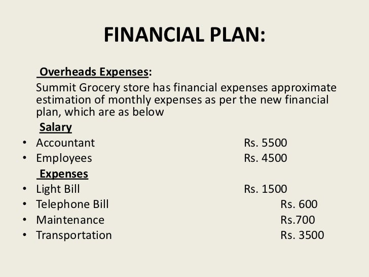 Provision store business plan