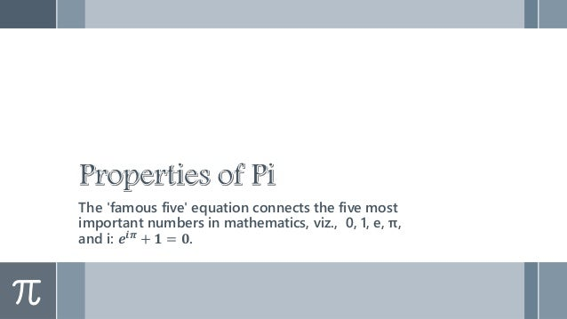 Digits of Pi › Pi is an infinite decimal, i.e., pi has infinitely many numbers to the right of the decimal point. If you w...