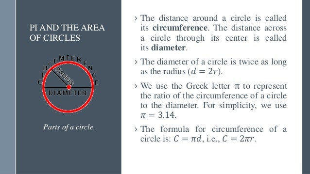 CONTINUED… Square units with area 1 cm2 each inside a circle. › The area of a circle is the number of square units inside ...
