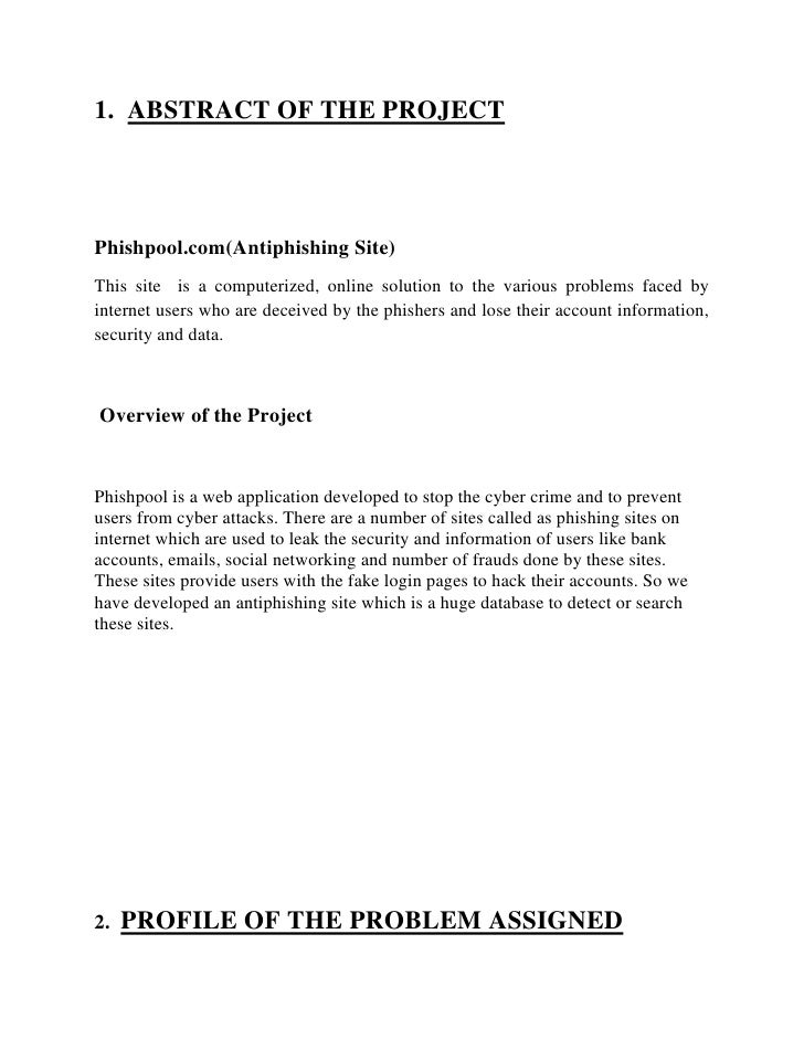 First Synopsis Format