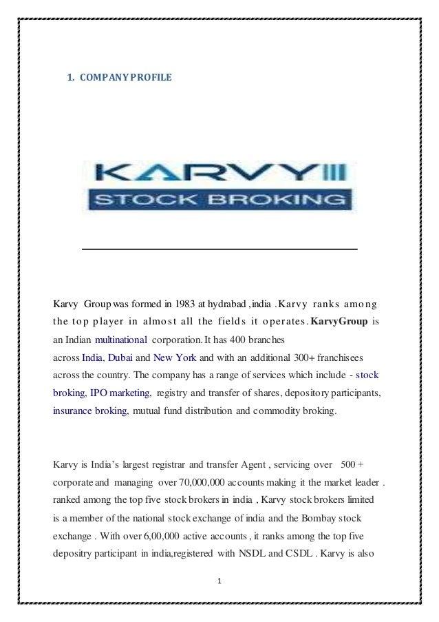 KARVY STOCK BROKING LTD