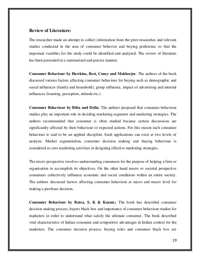literature review on consumer buying behavior laptop Consumer buying behavior factors which affect a consumer's  literature review on consumer behavior while  consumers' motivation to use laptop.