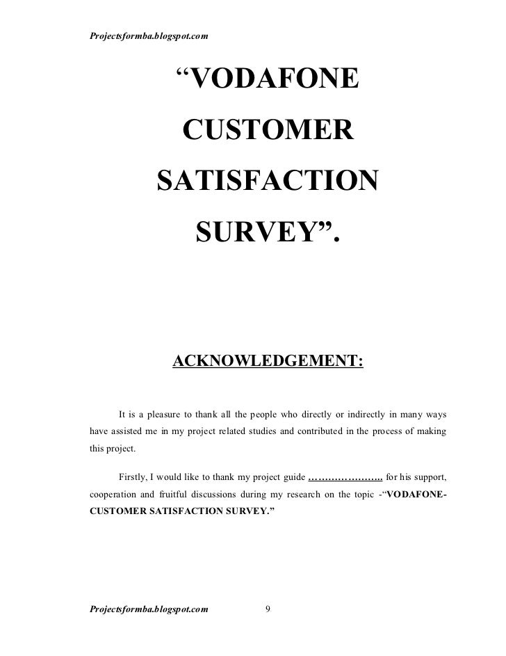 Customer satisfaction introduction