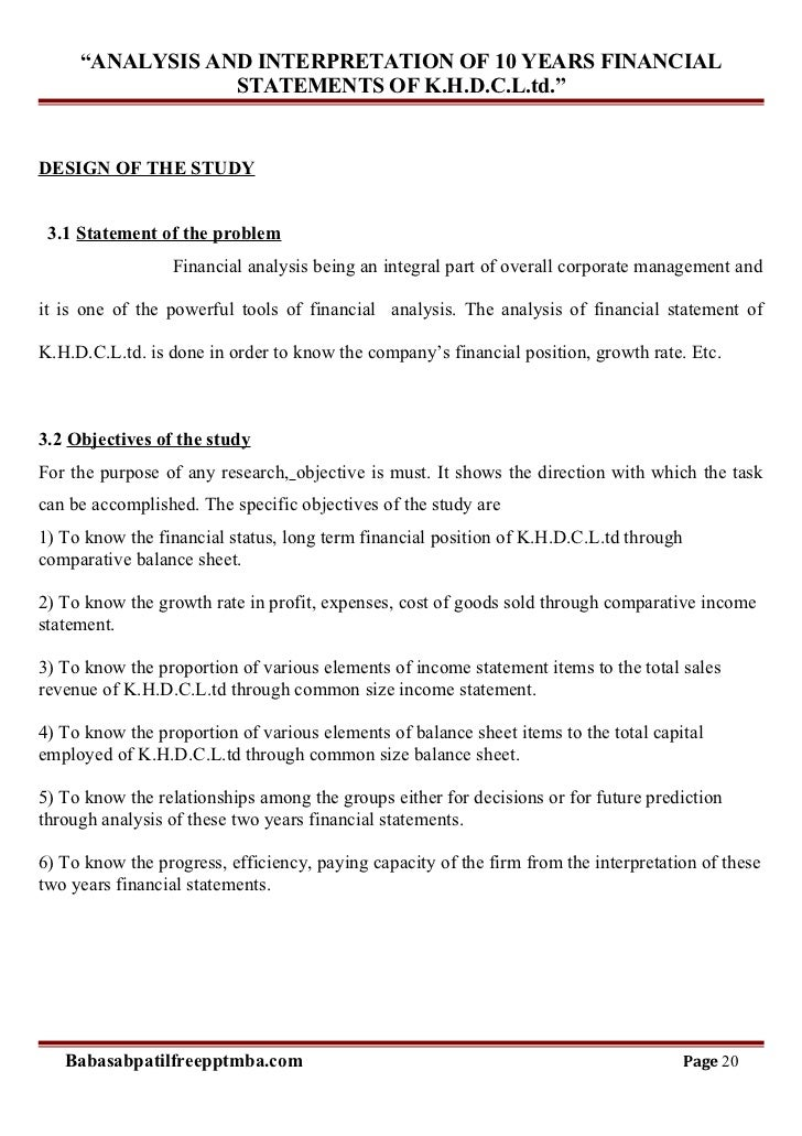 interpretation financial statements Interpretation of financial statements introduction  financial statements on their own are of limited usefor example: if you were to identify that a business has made profits of $1 million what does that tell you about the business.