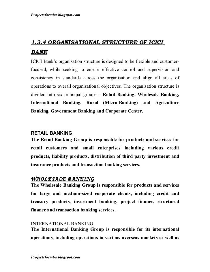 A project report on analysis of financial statement of icici