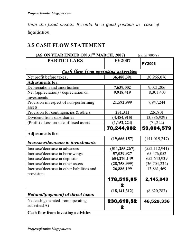 how to do a cash flow analysis