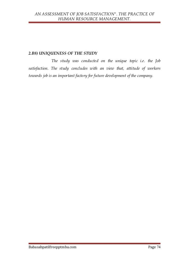 limitations of job satisfaction View essay - job satisfaction from eng 23 at ateneo de davao university problem statement one of the main roles of human resources (hr) departments is to.