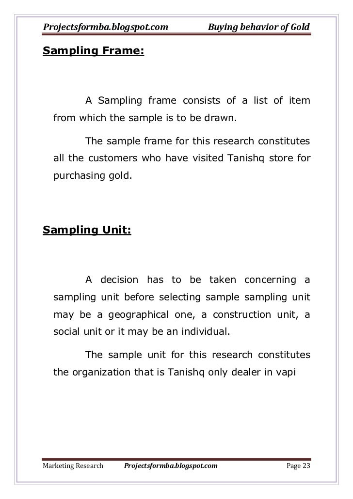 A project report on buying behaviour of gold with regards to