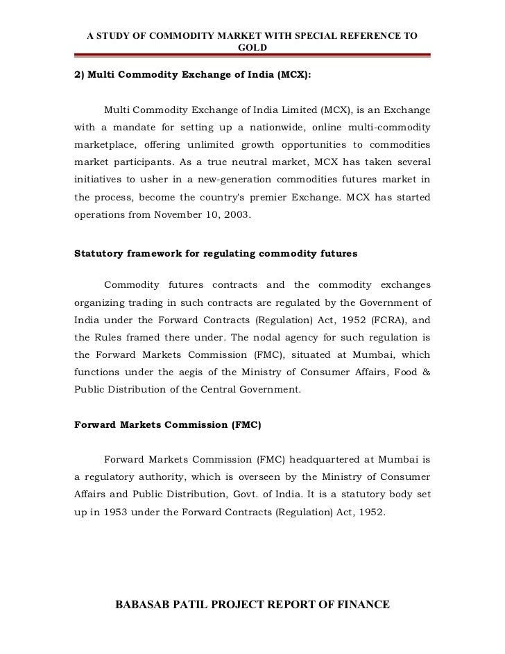 project report on commodity market Finance project| finance projects reports,  mba finance project report stock market trading, demat account process,  stock market, commodity market,.
