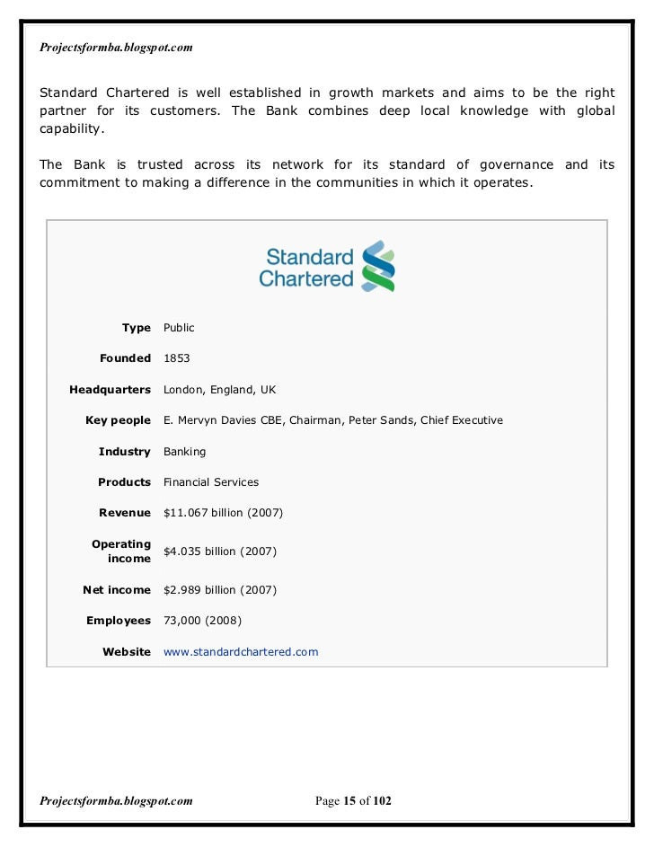 standard chartered bank marketing analysis Marketing communication strategy of standard chartered bank [student name] [school name] assignment # may 31, 2015 [instructor name] marketing communication str.