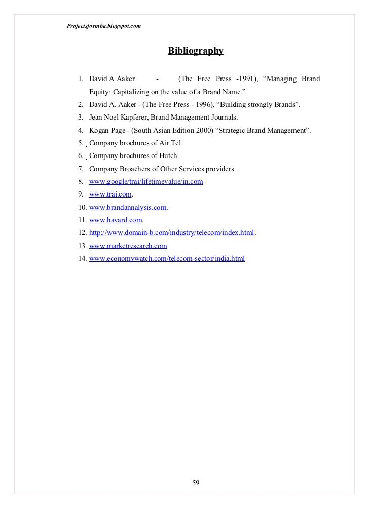 Project report on brand equity pdf