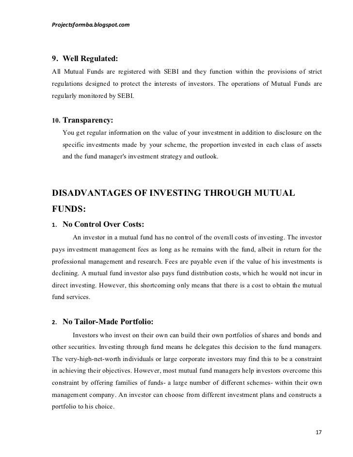 On fund pdf mutual project