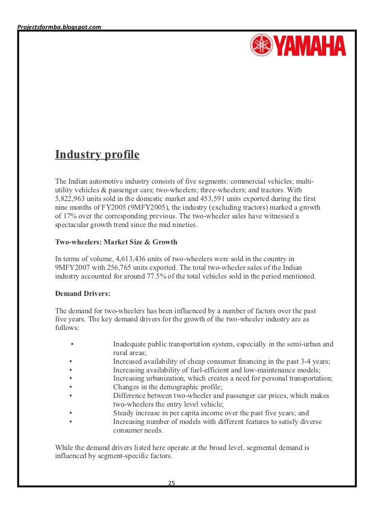 A project report on customer satisfaction of two wheelers industries …