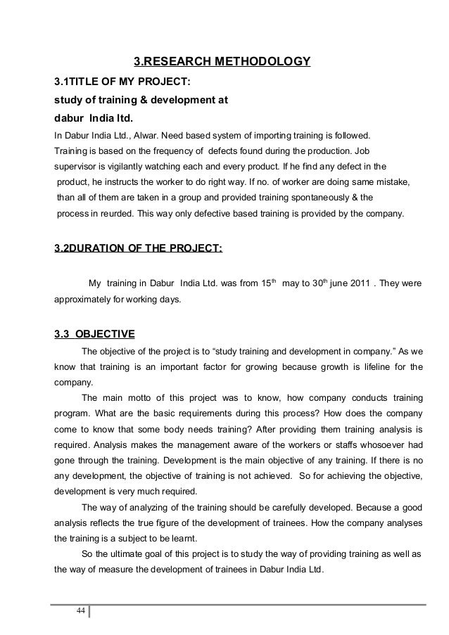 project report on dabur company Dabur (dabur india ltd is india's largest ayurvedic medicine & natural consumer  products  in the brand trust report 2012, dabur was ranked 45th among  india's most trusted brands and subsequently, according to the  in other  projects.