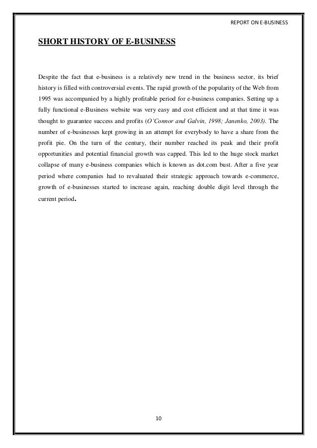 short business report format