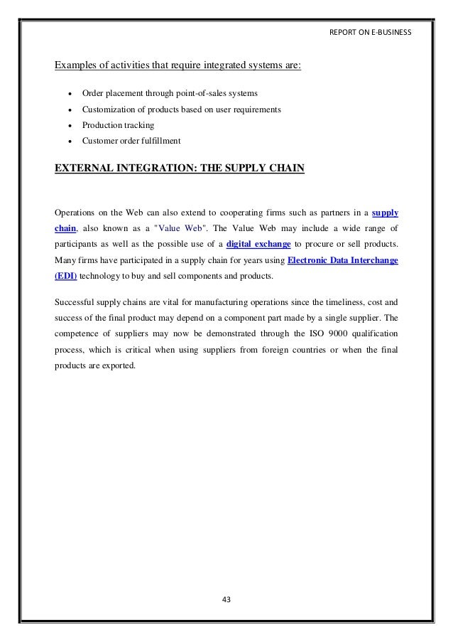 report examples for students