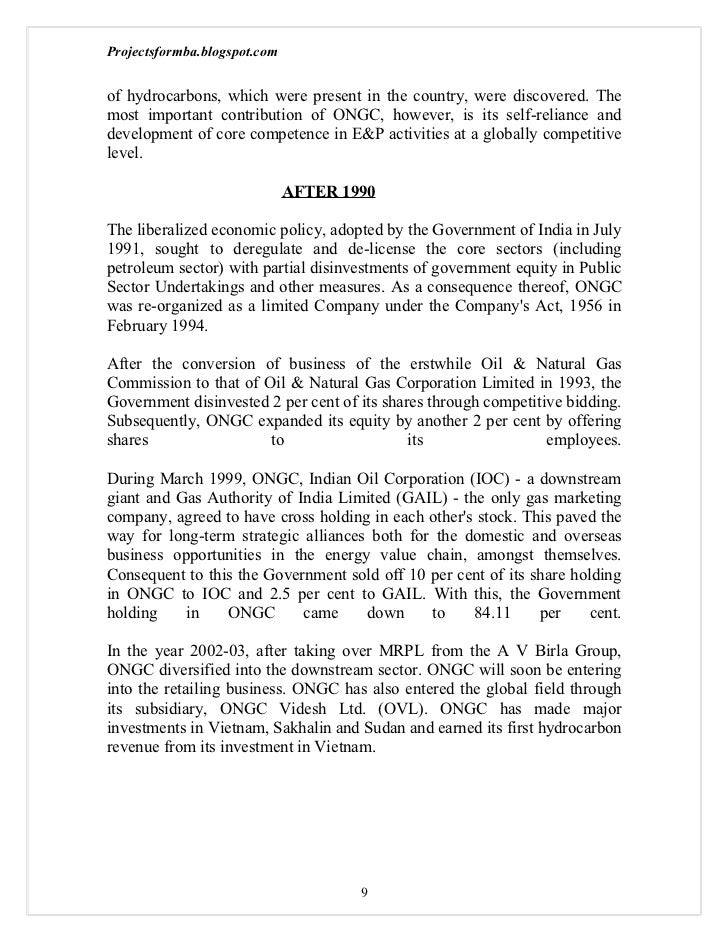 project report on ongc Working capital management of ongc this is a research report on working capital management of ongc uploaded by acharya shristi in category: all documents » internship reports section of our research repository.