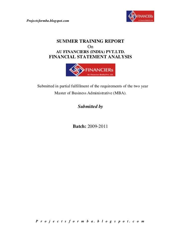 project report on financial statement analysis of kajaria ceramics ltd