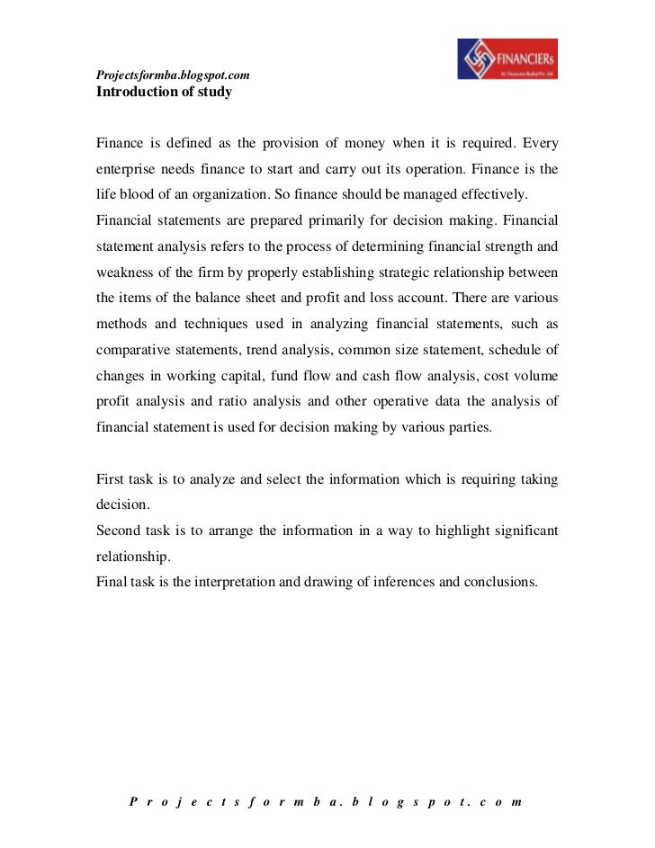 conclusion for financial statements analysis The uses of financial statements   comparison of financial statements forms the basis for much financial analysis  conclusion a critical.