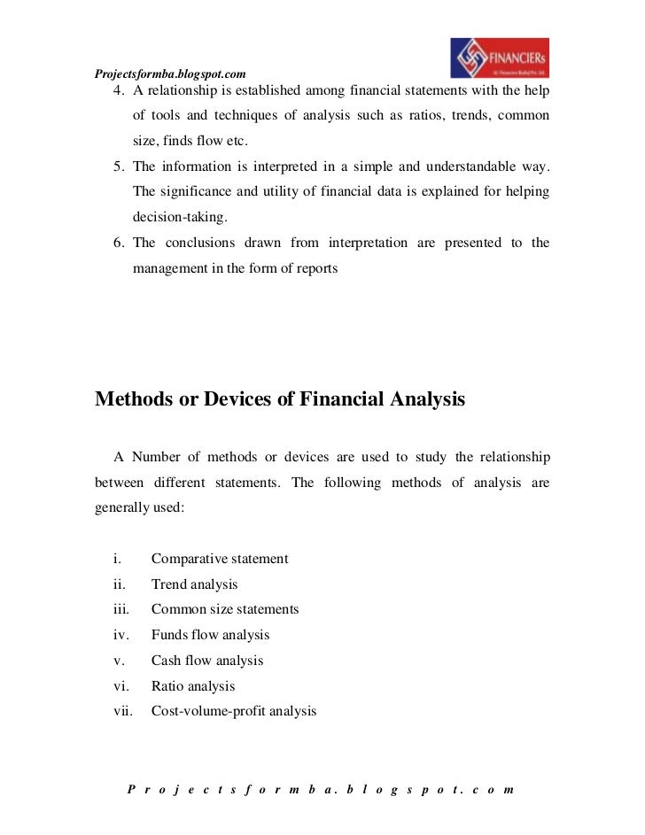 financial statement analysis and report The purpose of a financial analysis report is to present company financial information in a way that is useful and easy to understand at a minimum, financial analysis reports analyze trends.