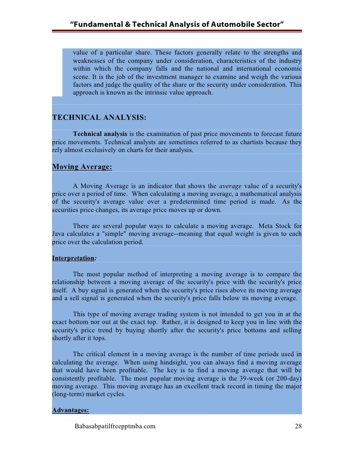project report on fundamental analysis Here i have selected a fundamental analysis as a subject of project so  fundamental analysys of steel sector  project report on comparative analysis of.