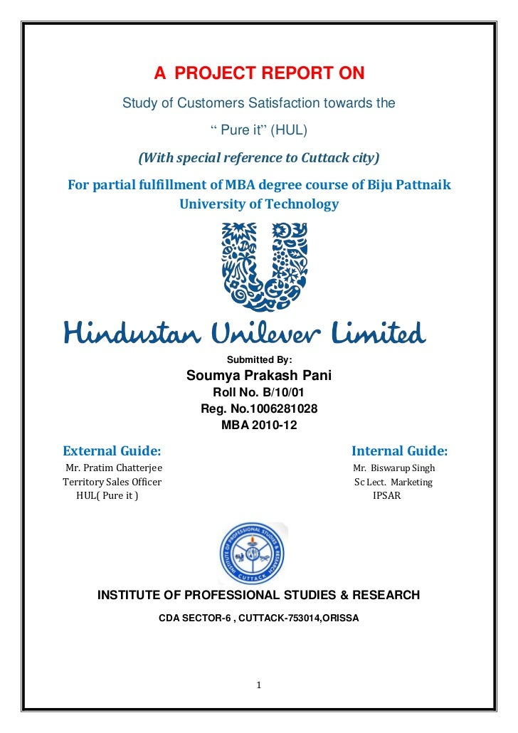 Strategic management report of hindustan unilever