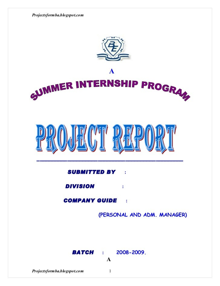 Project Report. Semester; 2 Meaning Of Project Report Project