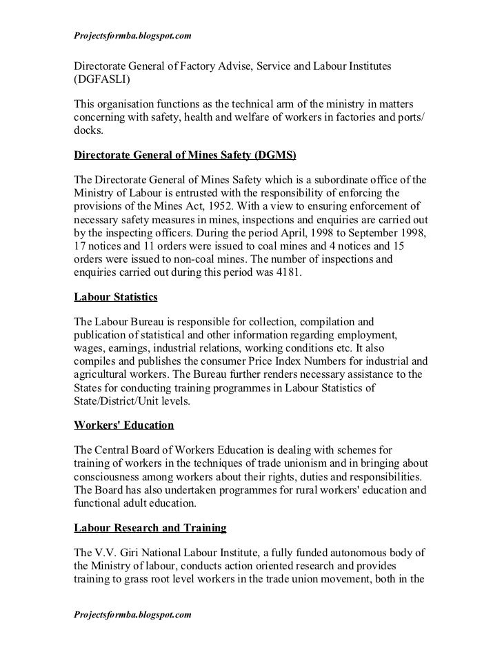 project report on labour welfare Provisional report of monthly labour survey may 2018  jul 5: report of vital  annual health, labour and welfare report white paper on the labour economy.