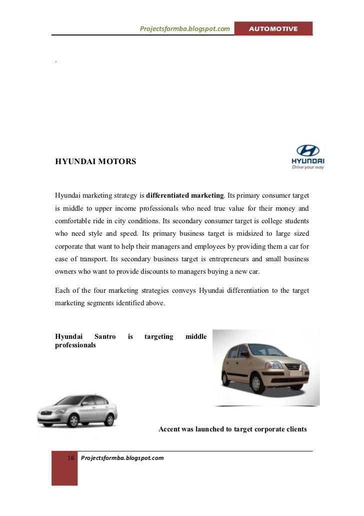 Marketing Mix of Hyundai