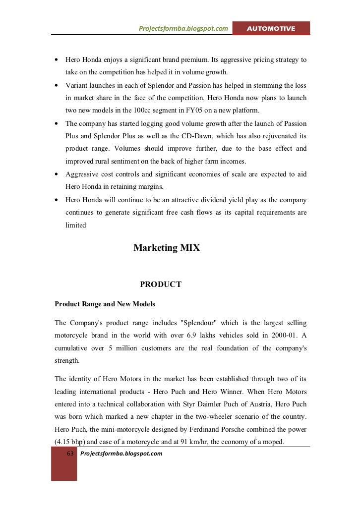 "hero honda pricing strategy Honda ppt 1 group pricing strategy honda has used ""premium pricing strategy"" pricing is done to attract status conscious hero honda rajib jena."