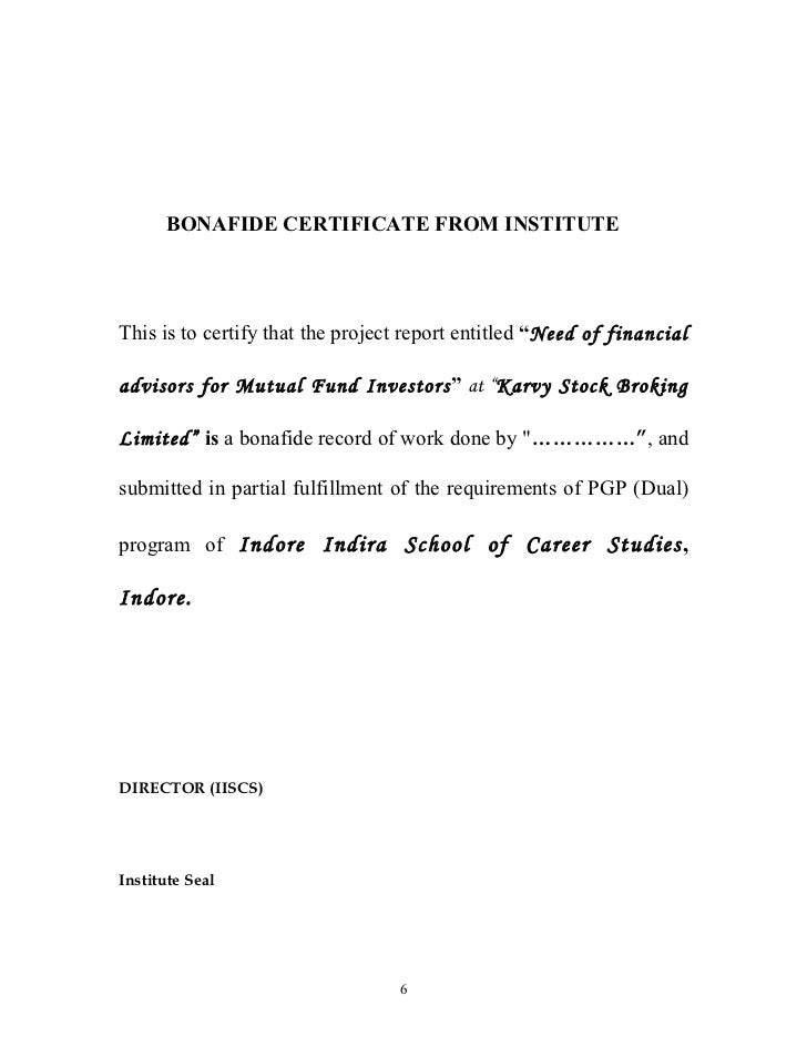 Sample certificate format for project report images certificate certificate sample for report gallery certificate design and bonafide certificate sample for project report gallery bonafide yadclub Images