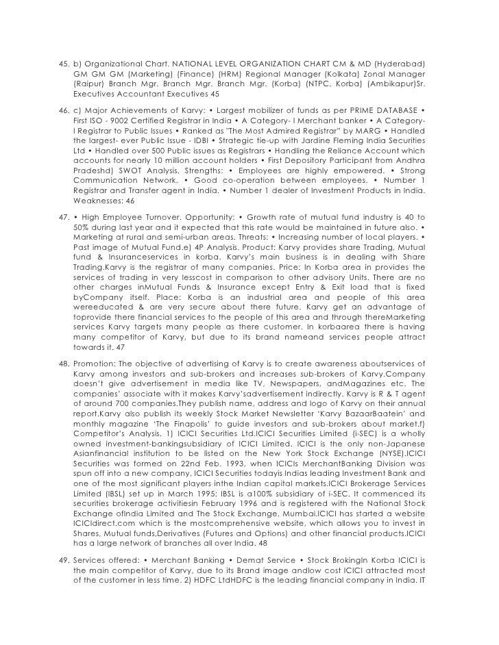 45. b) Organizational Chart. NATIONAL LEVEL ORGANIZATION CHART CM & MD (Hyderabad)    GM GM GM (Marketing) (Finance) (HRM)...