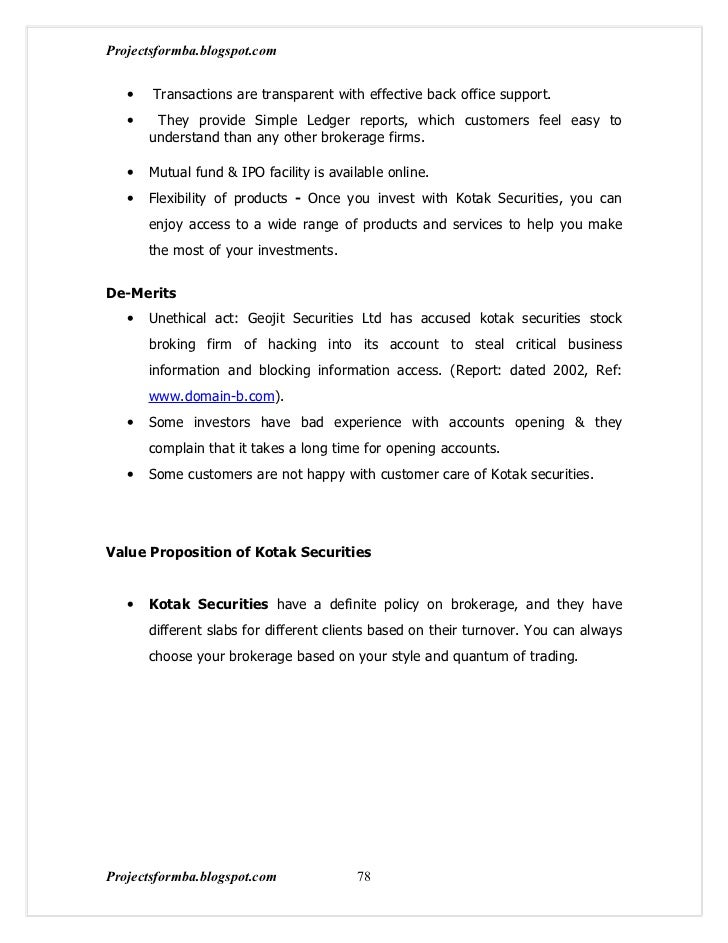 A project report on overview of indian stock market