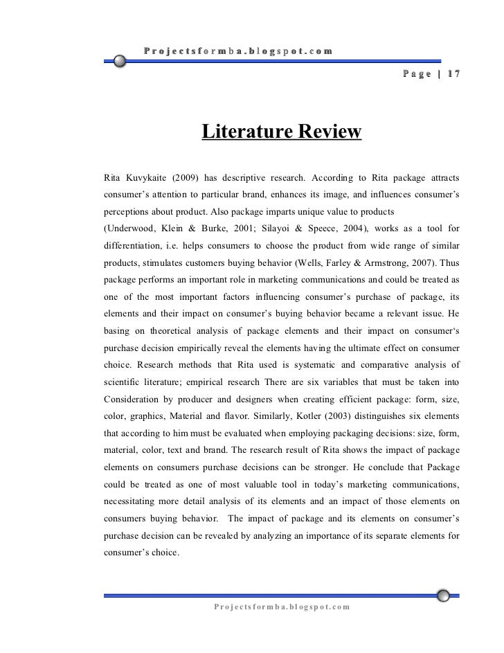 Literature review on online buying behaviour