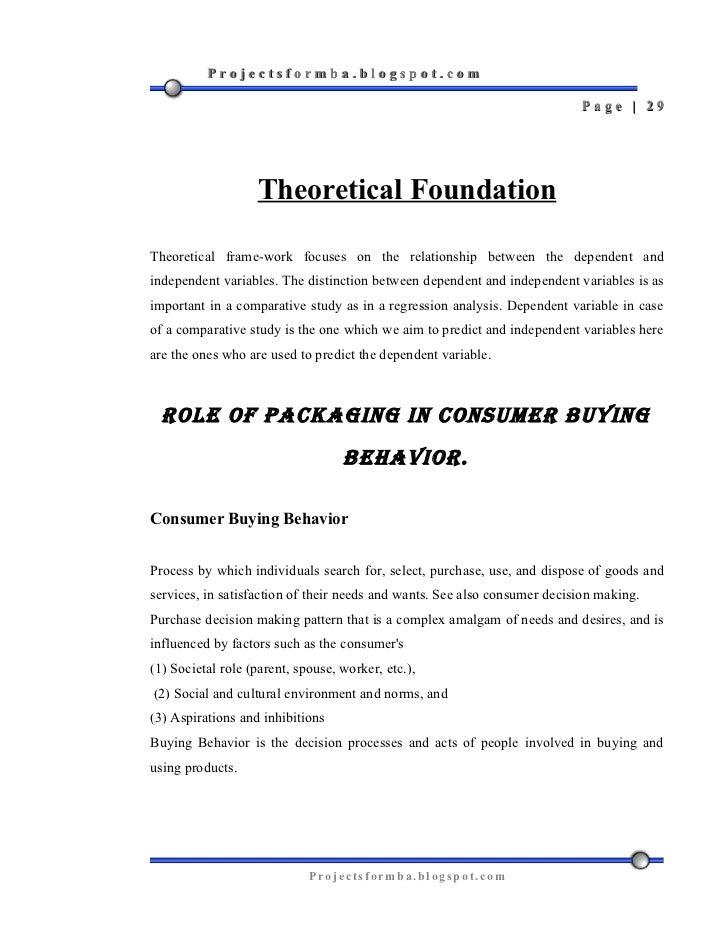 Literature review on buyer behavior