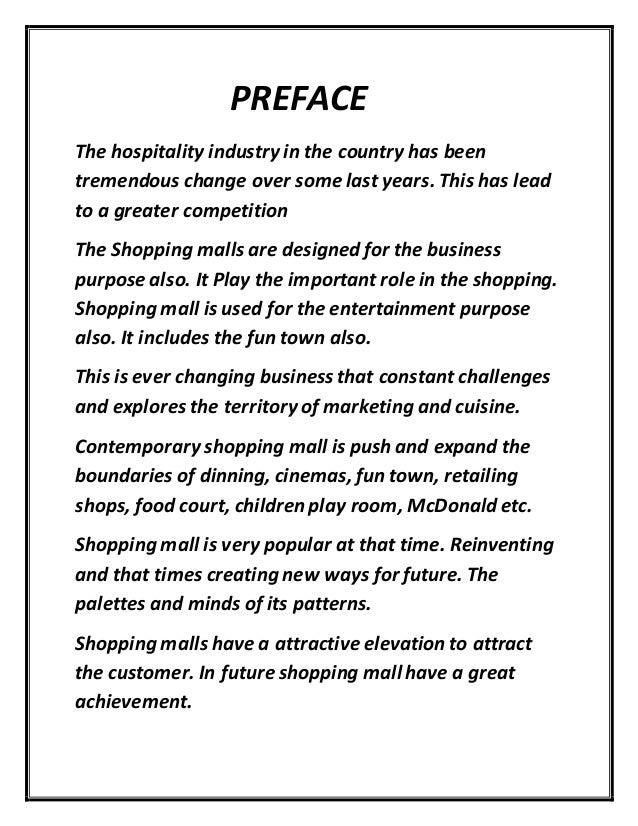 Essay about shopping mall