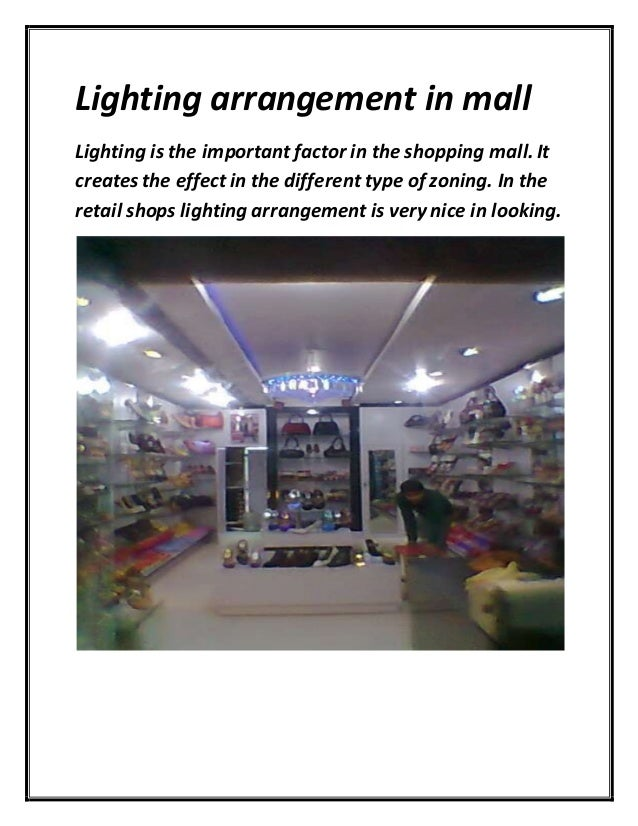 Project report on malls Research paper Example
