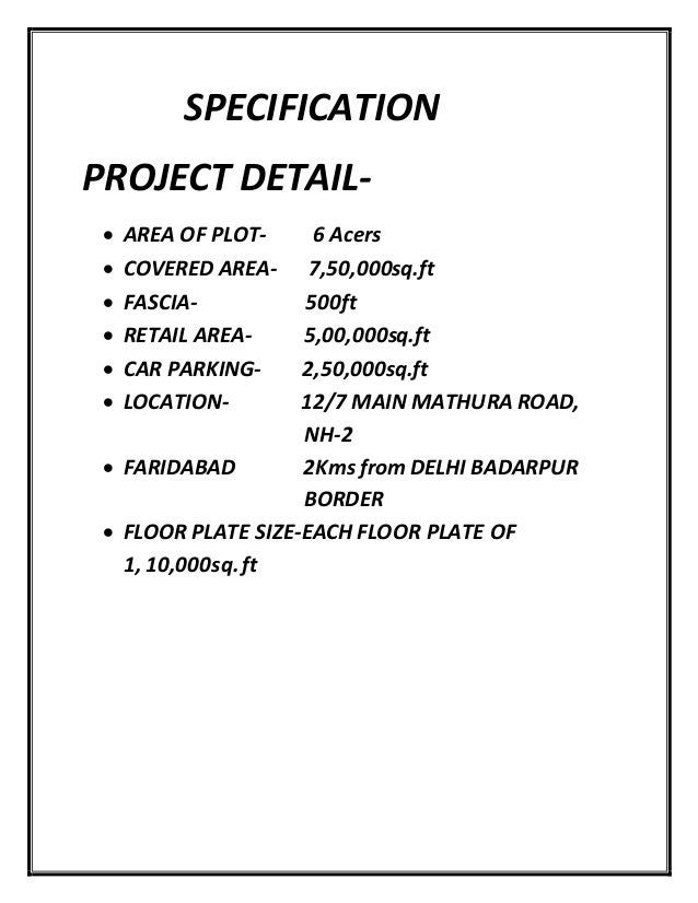 A project report on shopping mall