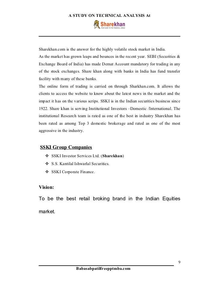 Organisational study on sharekhan