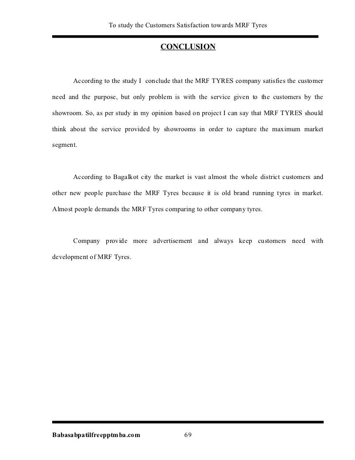 literature review on mrf tyres