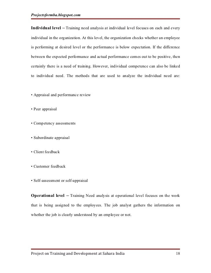 training need analysis essay 2 Reflective essay about the a practicum training project in hrd stage was to come up with a training needs analysis conduct a training needs.