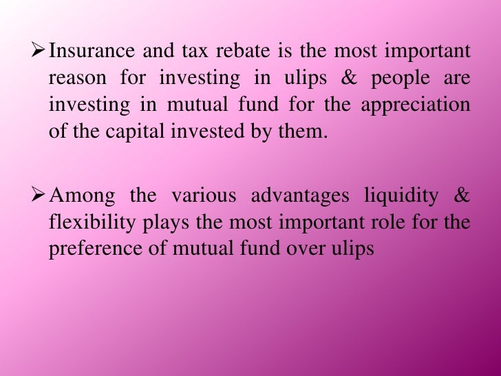 Project on Mutual Funds &Ulips