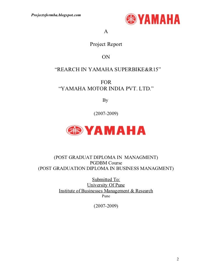 a report on yamaha motors Yamaha motor's financial performance for fiscal 2016.