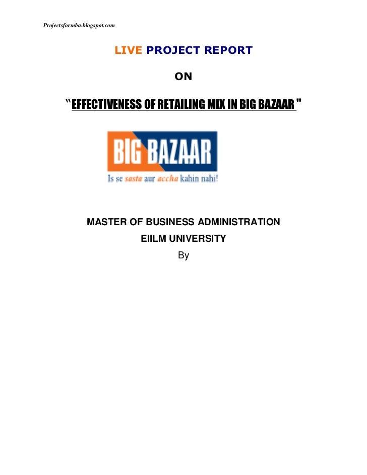 big bazaar case study solution