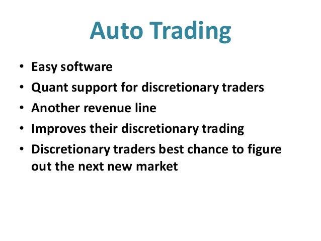 Discretionary trading strategies