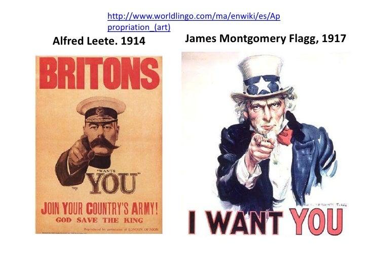 http://www.worldlingo.com/ma/enwiki/es/Appropriation_(art)<br />James Montgomery Flagg, 1917<br />Alfred Leete. 1914<br />