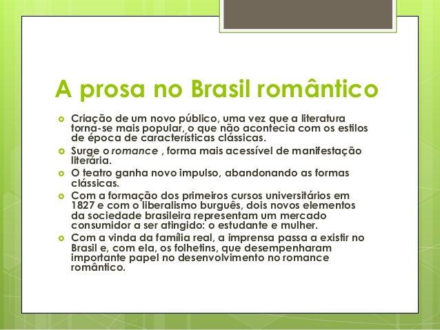 A prosa romântica brasileira Slide 2