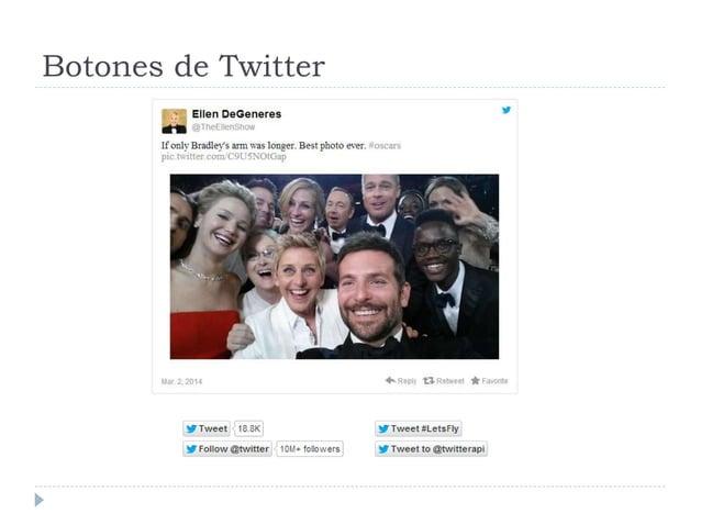 Botones de Twitter